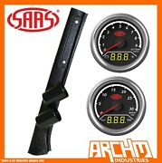 Saas Pillar Pod Gauges Ext Temp Volts Boost Oil Pressure For Toyota Lc 70 78 79