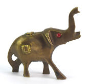 Vintage Small Elephant Figurine Brass Made In Indian Home Decorative. G7-911