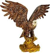 Faberge Box Animal Figurines With Gold And Brown Large Eagle Figurines