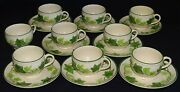 Franciscan Usa Ivy Set Of 9 Cups And 8 Saucers