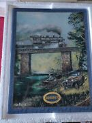 Summer Rails On Dogwood Creek By Ted Blaylock Iron Horse Express Train Plaque