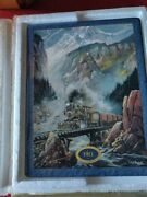 Fall Fall Creek Run By Ted Blaylock Iron Horse Express Wall Train Plaque