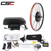 Electric Bicycle 48v 1000w Conversion Kit Hub Motor Wheel With Battery 20-29in