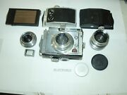 Plaubl Makina Original Medium Format Camera Outfit 3 Lenses Made In Germany