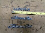 1977 Lincoln Continental Town Car 4 Door Left Right Emblems Trim 1976 1975 Oem