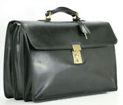 Mark Cross Italy Vintage Leather Executive Briefcase Business Attache Bag Mens