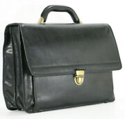 Valentina In Pell Vintage Leather Business Briefcase Executive Attache Bag Mens