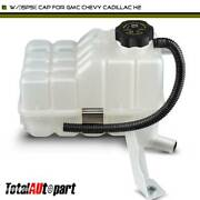 Coolant Recovery Tank Overflow Reservoir W/15psi Cap For Gmc Chevy Cadillac H2
