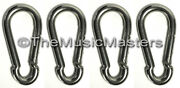 New 4 Stainless Steel 3 1/8 Spring Hook Boat Marine Rope Dock Line Chain Link