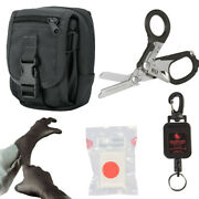 Raptor Emt Shears/multi Tool And Leash Kit W/condor Molle Pouch