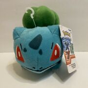 """Pokemon Bulbasaur Authentic Xy Official Tomy Licensed 6"""" Plush New W/ Tags"""