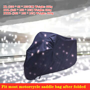Motorcycle Cover Xl/2xl/3xl Waterproof Sun Rain Dust Protector With Bag Folding