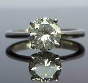 Vs1 Flawless Diamond Round Brilliant Ring Solitaire 1.04 Ct 14 Kt White Gold
