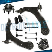 12pc Lower Control Arms + Wheel Bearings For Chevy Cobalt Pontiac Pursuit G5