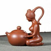 Earthenware Teapot 110 Ml With Naked Chinese Woman - Brown