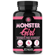 Angry Supplements Monster Girl Pre-workout Energy And Weight Loss For Women 1pk
