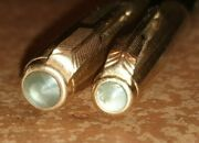 Vintage Parker 51 Set Fountain Mand Mech. Pencil 0.7 1953 Rolled Gold And Org Box