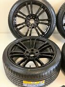 20 Wheels Rims Fit Bmw M5 F90 Style M6 B7 5x1120 72.56cb Black W-tires Stagger