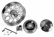 16 Wheel And Brake Drum Assembly Chrome For Harley Davidson By V-twin