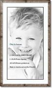 Arttoframes Matted 22x40 Natural Picture Frame With 2 Double Mat, 18x36 Opening