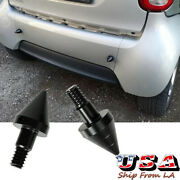 2x Black Metal Rear Bumper Protector Spikes Guards For 2007-2015 Smart Fortwo