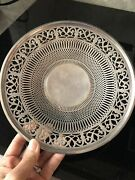 Vtg Marked Sterling Silver 8 Candy Dish Footed Reticulated Weight 180.4g