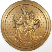 France Mary As Queen Of Heaven With The Christ Child Hugee Cast Bronze Model