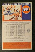 Mint Vintage Fold Out Gulf Oil Company Va Rt 11 Map Illustrated Postcard