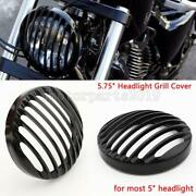 Black 5.75 Headlight Grill Cover For Harley Davidson Iron 883 Seven Two Xl1200v