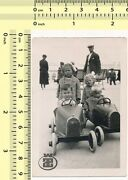 040 Kids Boys And Girls In Toy Model Pedal Cars Children Vintage Photo Original