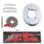 Jt Sprockets 14 -1/32 Set And And Jt Hdr Chain Kit For Yamaha Pw80 Zinger 83-06