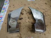1977 Lincoln Town Car 4 Door Right And Left Front Bumper Guards Rubber Trim Oem