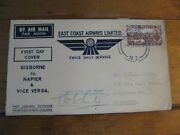 Airline New Zealandfirst Day Passenger Flights Envelope Signed By Pilot 1935