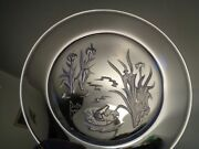 Daum France Amazing Crystal Deep Etched Plate Iris And Frog Lim. Ed. 188/4000
