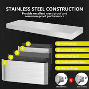 Drop-down Serving Shelf For Concession Stands And Food Trucks 4 Ft Load 44lbs