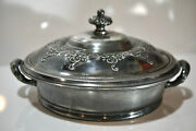 Vintage Forbes Silver Co Container With Lid Quadruple 355