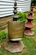Industrial Steam Babcock And Wilcox Brass Antique Advertising Sign