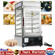 5-layer 110v 1200w Electric Commerical Bun Steamer Warmer Cooker Commercial Usa