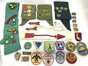 Boy Scout Vintage Lot Of 60 Badges, Pins, Patches, Sashes, Tie Slides, Buckle