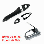Front Left Exterior Outside Door Handle Carrier And Handle Set For Bmw X5 00-2006
