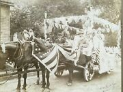 Rare Late 1800and039s1900and039s Patriotic Float Dover New Jersey Nj Cabinet Photograph