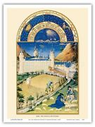 July Book Of Hours - Limbourg Brothers Vintage Illuminated Manuscript Print