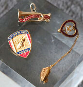 Lot 3 Vintage Moose Pins Wotm Charms Loyal Lovely Cute Collectible Unique Odd Xw