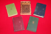 Mixed Lot Very Old Antique Books Of Poetry Modern Verse Latin Goethe Milton Hl