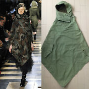 Ad2010 Junya Watanabe Comme Des Garcons Military Hoodie Poncho