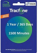 Tracfone Service Extension 1 Year/365 Days + 1500 Minutes All Phones