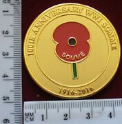 New Zealand Ww1 Somme Centenary Challenge Coin, 2016