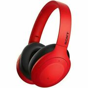 Sony Wh-h910n Red Wireless Noise Canceling Headphones Bluetooth 4548736101340