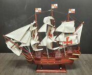 24 St Maria Christopher Columbus Wooden Spanish Pirate Wood Vintage Model Ship