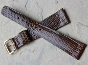 High Detail Exotic Skin Vintage Hamilton Watch 20mm Lizard Strap Signed Buckle